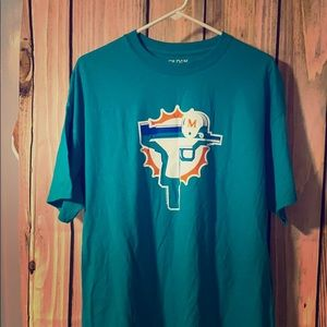 Miami Dolphins Tee XL Dry Blend